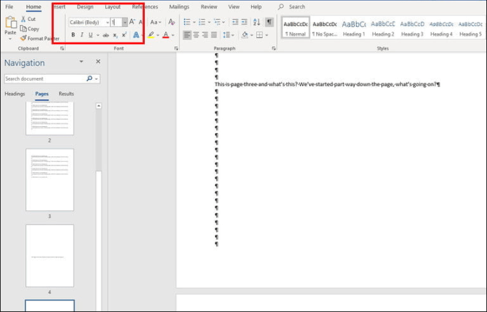 How to delete a page in word, Step by step 3