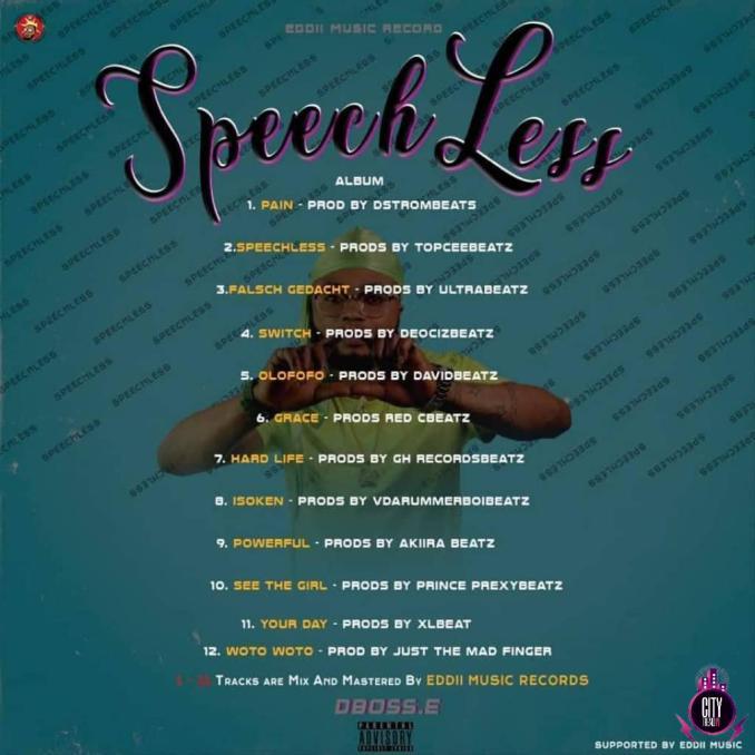 Download Dboss E — Speechless Complete Album Tracklist