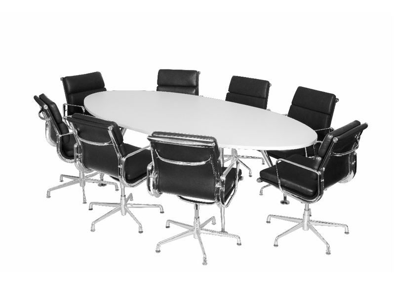 Oval Boardroom Table White City Used Office Furniture