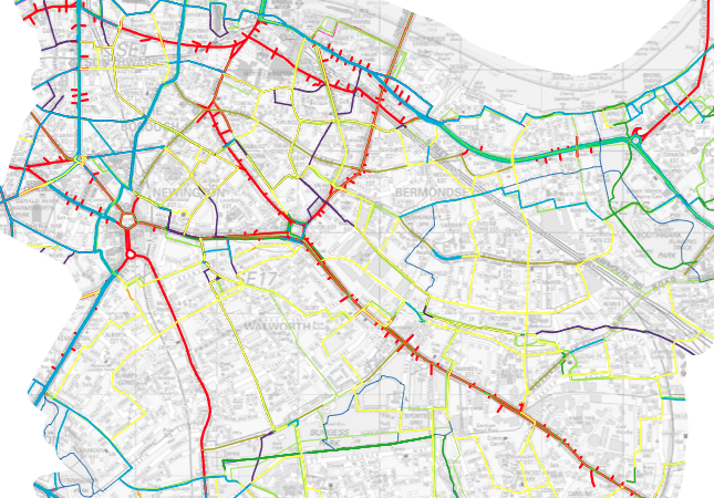 Transport for London data for cycle wayfinding