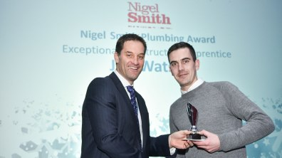 Winner of Exceptional Construction Apprentice award, Jon Watson. Photo: Steve Smailes for Lincolnshire Business