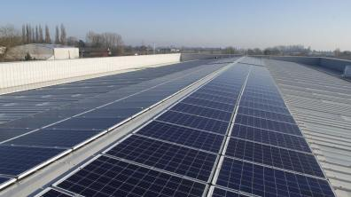 There is a 200 KVA solar farm on the roof. Photo: Steve Smailes for Lincolnshire Business