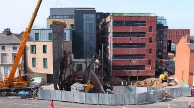 Demolition works as part of the Viking House development. Photo: Jackson & Jackson Developments