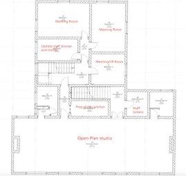 Floor plan for the first floor.