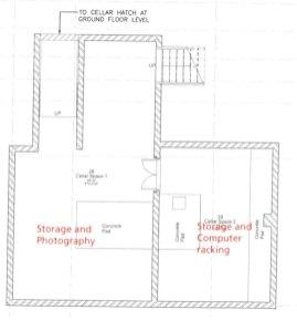 Floor plan for the former cellar