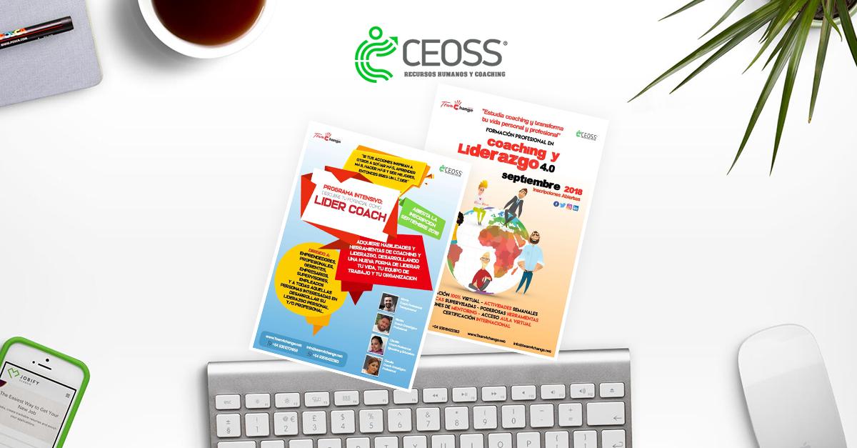 CEOSS  te invita a sus nuevos cursos virtuales Lider COACH y COACH Profesional