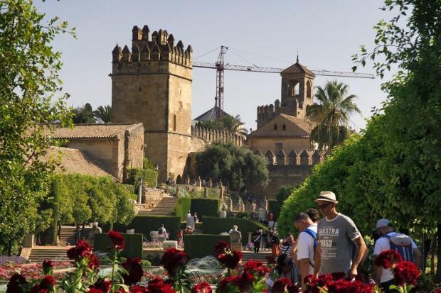 Foto del Alcázar de los Reyes Cristianos en la Ciudad de Córdoba en Andalucía