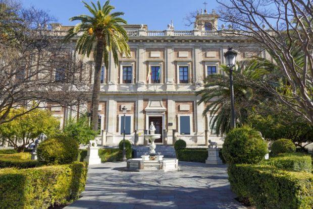 Foto del Archivo General de Indias en la ciudad de Sevilla