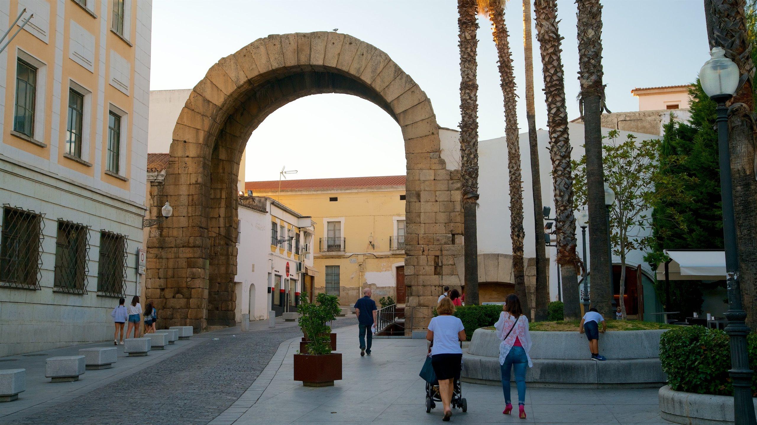 Arco Trajano en la ciudad romana de merida en Extremadura