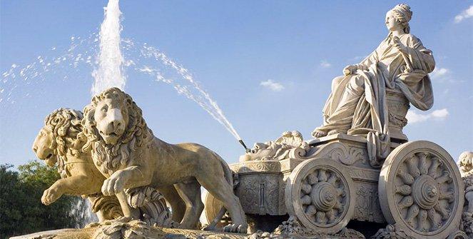Foto de la Fuente de la Cibeles en la ciudad de Madrid