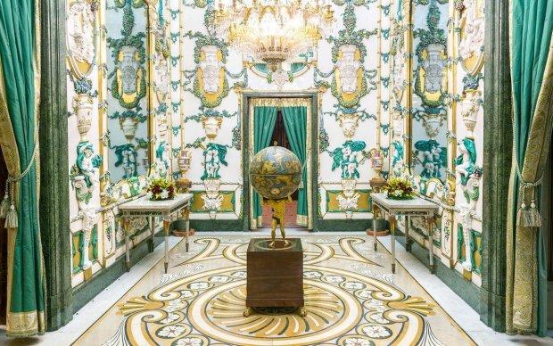 Foto del Interior del Palacio Real de la ciudad de Madrid