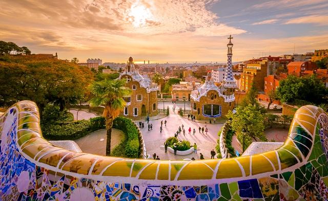 Foto del Parque Güell de la ciudad de Barcelona