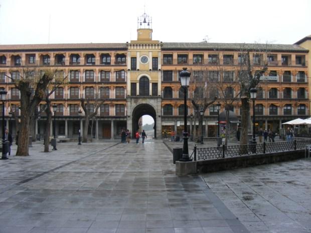 Foto de la Plaza de Zocodover de la ciudad de Toledo en Castilla-La Mancha