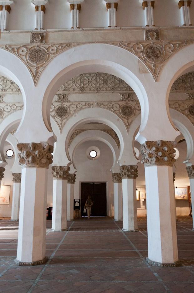 Foto de la Sinagoga de Santa María la Blanca de la ciudad de Toledo en Castilla-La Mancha