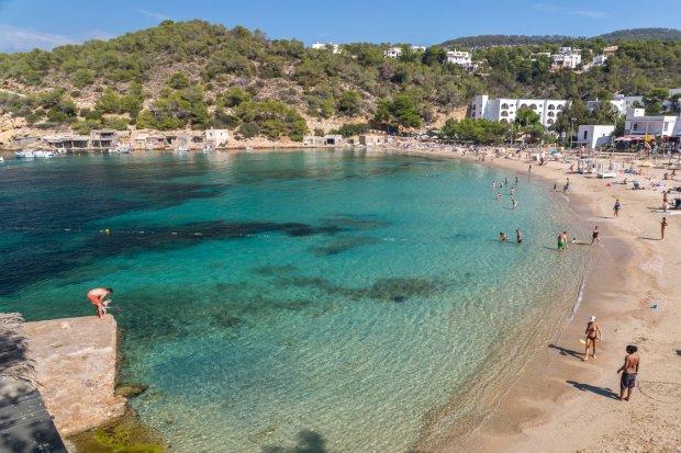 Playa de Cala Vadella en Ibiza