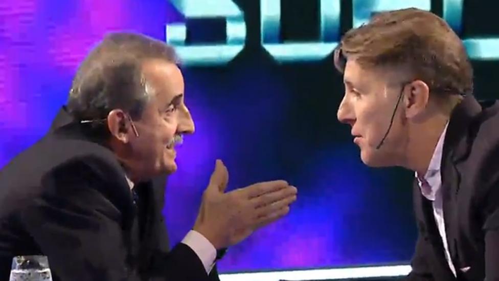 """PICANTE. Uno de los momentos más """"calientes"""" entre Moreno y Fantino."""
