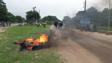 Photo of Corte de ruta en ingreso zona sur de Tartagal