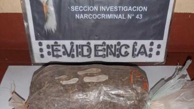 Photo of Santa Victoria | Procedimiento de drogas arrojo un detenido