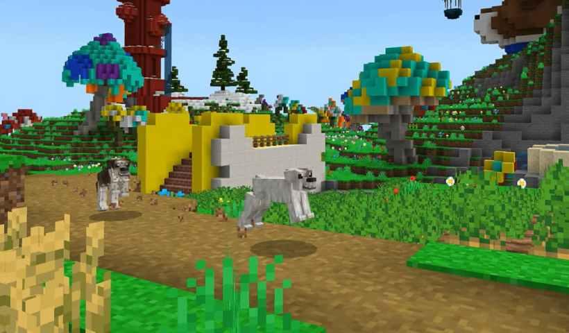 Des chiens s'imaginent dans le monde de Minecraft pour la dernière publicité de Microsoft