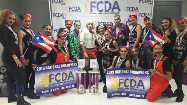 """La agrupación de baile Crazy Kids Dancers,compuestas por jóvenes de Comunidades Especiales y Residenciales Públicos representó a Puerto Rico en  la competencia """"Show of Champion FCDA 2019"""""""