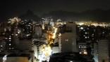 Ipanema de noche, desde el Mirante da Paz. 2014