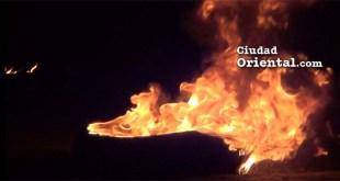 Neumático incendiado en Villa Duarte por apagones