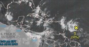 Onda tropical 30 de Julio 2016