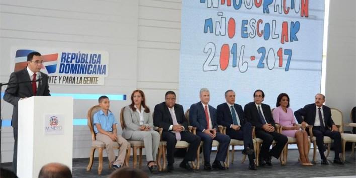 Inauguración año escolar 2016-2017 en Villa Mella
