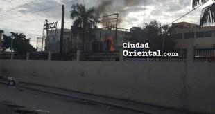 Fuego en el hospital de Maternidad Los Mina