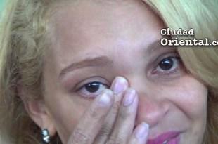 Adalgisa Germán llorando