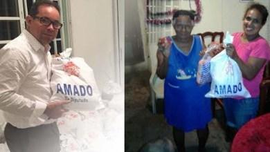 Photo of Amado Díaz entrega raciones navideñas en barrios SDE