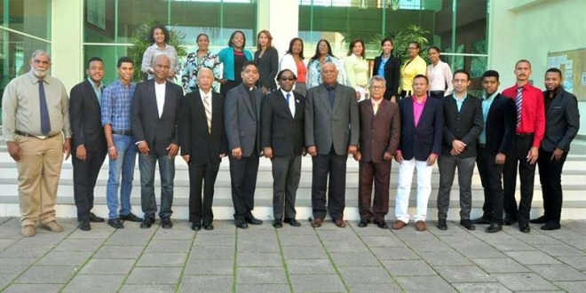 Organizadores del Festival de la Arepa, en San Luis