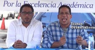 Angel Pichardo, (i), y Carlos Pimentel