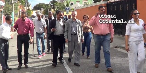 Manuel Jiménez asistió al acto de inauguración del sistema de vigilancia electrónica en El Triángulo