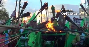 La llama encendida por los verdes