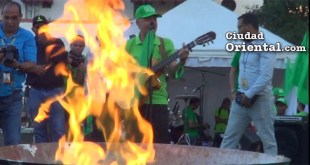 Manuel Jiménez junto al fuego y contra la impunidad