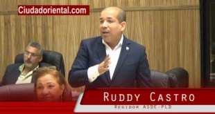 El regidor Ruddy Castro interviene durante los debates