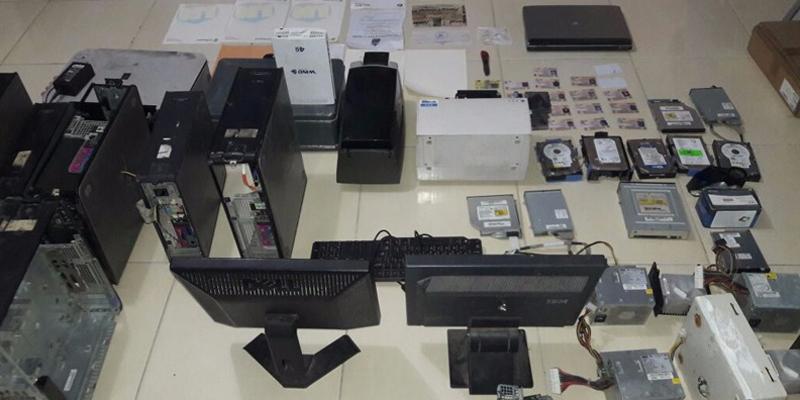 Desmantelado laboratorio dedicado a falsificar documentos en Villa Carmen