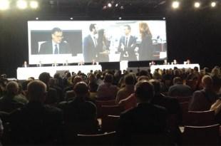 Vista de conjunto de la asamblea general de accionistas de Société Genérale celebrada en la tarde de hoy, martes, 23 de mayo de 2017, en París, Francia. (Enrique de León)