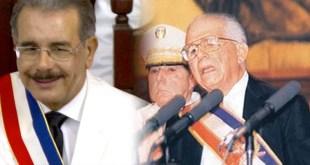 Danilo Medina (i), y Joaquin Balaguer