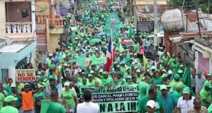 La Marcha Verde dentro del barrio Los Tres Brazos