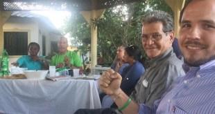 Vista parcial de la reunión de los verdes en Los Tres Brazos
