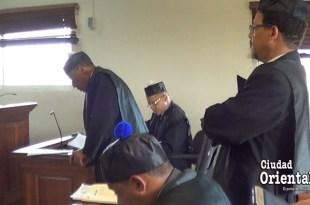 Escena del juicio a La Tablita