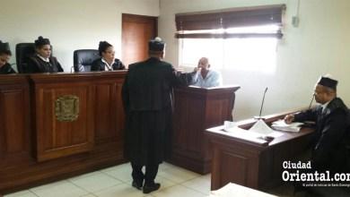 """Escena del juicio por el caso """"La Tablita"""""""