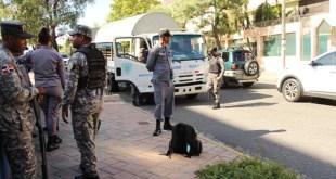Fuerzas de seguridad custodian el Palacio Nacional (Foto de Vigilante Informativo)