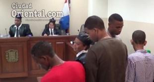 Los encartados luego de concluido el juicio de fondo.