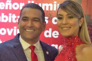 Diputado Luis Alberto Tejeda y su esposa Noemí Tavárez