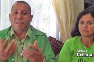 Fernando Morillo y Angela Henríquez, voceros de Marcha verde en SDE