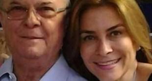 Hipólito Mejía y su hija y Carolina