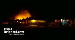 Fuego en Boca Chica